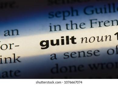 guilt guilt concept.