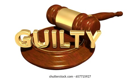 Guilty Law Concept 3D Illustration