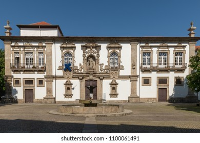 GUIMARAES, PORTUGAL - CIRCA APRIL 2018: Architecture of Historic Centre of Guimaraes Portugal. UNESCO World Heritage