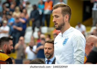 GUIMARAES, PORTUGAL - June 09, 2019: Harry Kane player during the UEFA Nations League Finals match for third place between Switzerland and England at the Estadio D. Afonso Henriques, Portugal