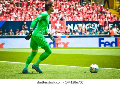 GUIMARAES, PORTUGAL - June 09, 2019: Yann Sommer player during the UEFA Nations League Finals match for third place between Switzerland and England at the Estadio D. Afonso Henriques, Portugal