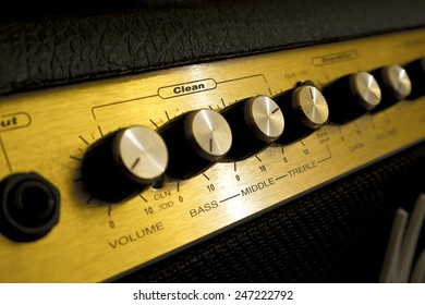 Guitar amp close-up