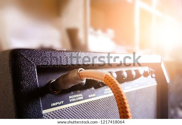 Guitar Amplifier Audio Cable Recording Studio Stock Photo (Edit Now