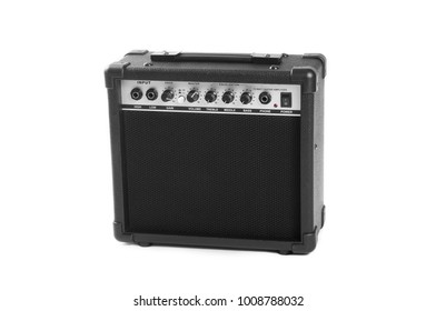 Guitar amplifier isolated on white background. This has clipping path