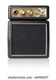 Guitar amplifier on white background (isolated with path).