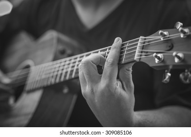 guitar artist playing the song
