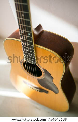 Guitar Bed Room Morning Light Stock Photo Edit Now 754845688