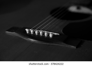 Guitar in black and white