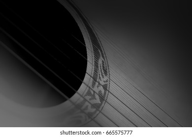 Guitar black and white background.