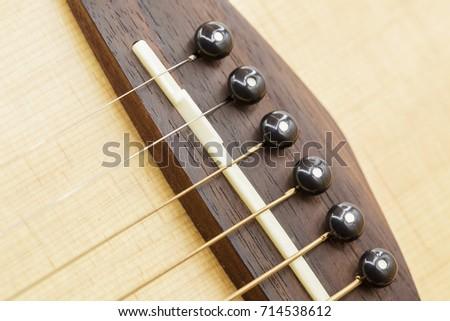Guitar Bridge Saddle Pin Stock Photo Edit Now 714538612 Shutterstock