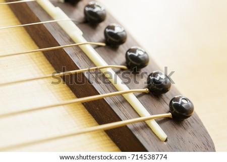 Guitar Bridge Saddle Pin Stock Photo Edit Now 714538774 Shutterstock