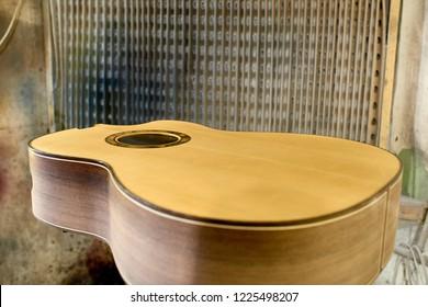 Guitar case in the paint shop.