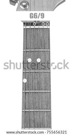 Guitar Chord G 69 Black White Isolate Stock Photo Edit Now
