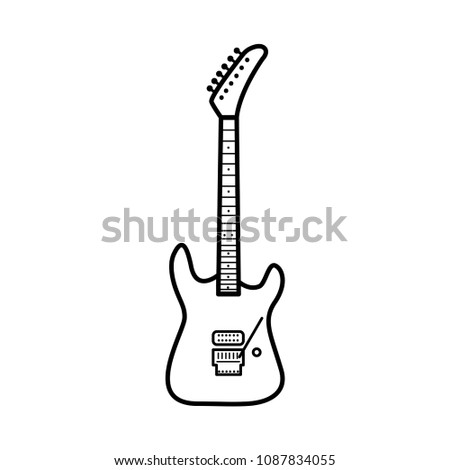 guitar electric vector template stock photo edit now 1087834055