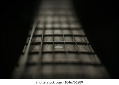 Guitar Fretboard Close Up