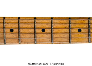 The guitar is a fretted musical instrument that usually has six strings. It is played pressing the strings against the frets.