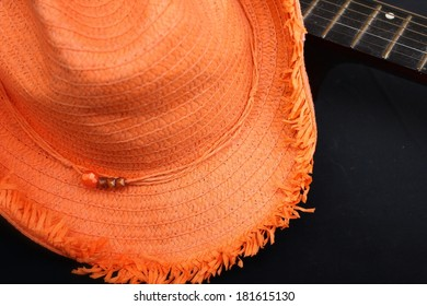 Guitar and hat