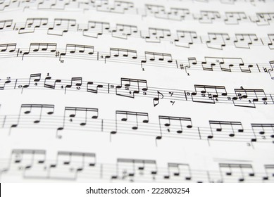 Guitar music sheet. Good file for musical backgrounds