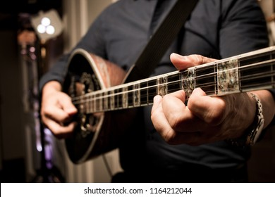 Guitar player on a party