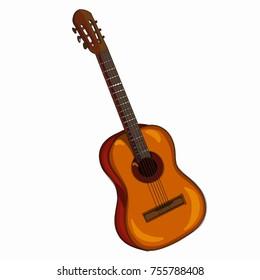 guitar realistic cartoon