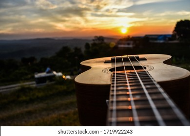 Guitar strings got set with the sunset