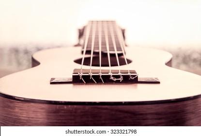 guitar in vintage color tone