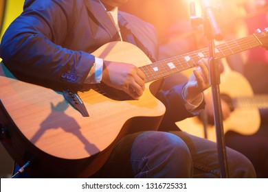 Guitarist on stage for background