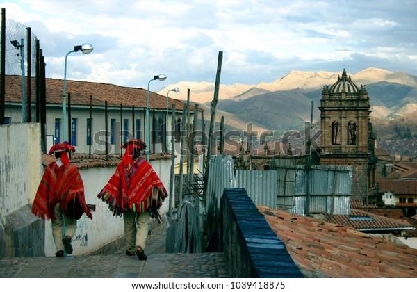 Guitarists Gliding through Cusco, Peru