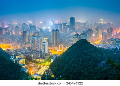 Guiyang, Guizhou, China downtown city skyline.