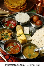 Gujarati Meal is a combination of different kinds of dals, sweet dishes, rice and roti.