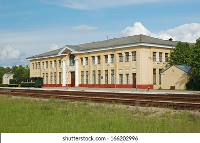 Gulbene railroad station, Latvia