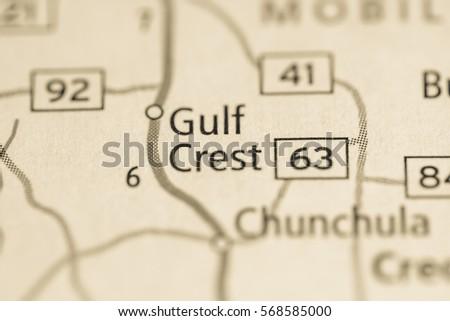 Map Of Gulf Uss Alabama on