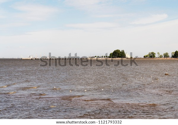 The Gulf of Finland from Peterhof on a summer day.