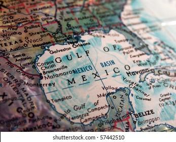 Gulf of Mexico on Globe