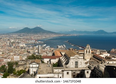 gulf of naples seen from castel sant'Elmo