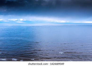 Gulf of Riga, Baltic in cloudy day.