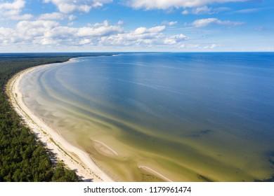 Gulf of Riga, Baltic sea next to Mersrags, Latvia.