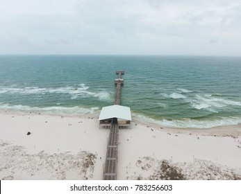 Gulf Shores and Orange Beach, Alabama on a cloudy summer day