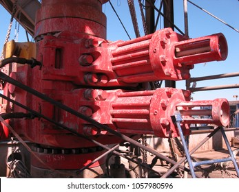 Gulf of Suez, Egypt - July 07 2007: The Blow Out Preventer on a Land Oil Drilling