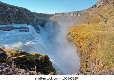 Gulfoss (Golden Falls), a waterfall in the canyon of the Olfusa river, Iceland.