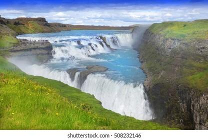 Gulfoss (Golden Falls) waterfall, Iceland