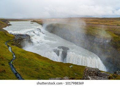 Gulfoss waterfall in the Golden Circle in South Iceland