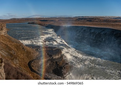 Gullfoss Falls in Iceland. One of the most Famous Falls in Iceland