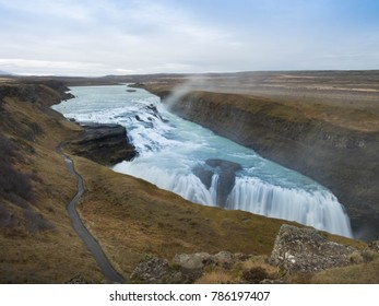 Gullfoss waterfall in Autumn, Iceland