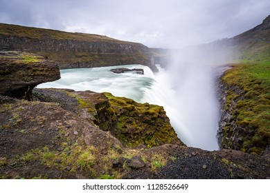 Gullfoss Waterfall - famous landmark in Iceland