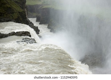 Gullfoss, a waterfall located in the canyon of Hvítá river in southwest Iceland, Golden Circle