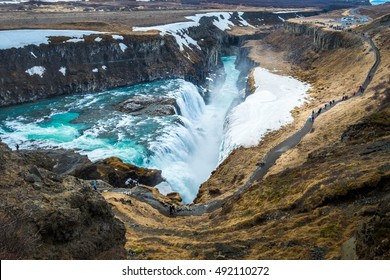 Gullfoss is a waterfall located in southwest Iceland. It is one of the most popular tourist attractions in Iceland.