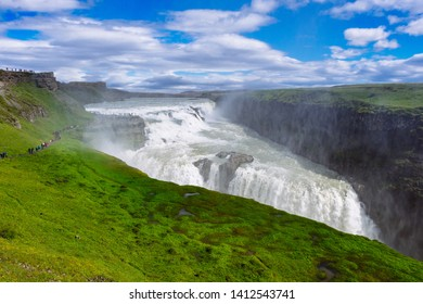 Gullfoss waterfall on golden circle in Iceland