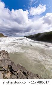 Gullfoss waterfall on Iceland