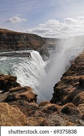 Gullfoss waterfall, south Iceland
